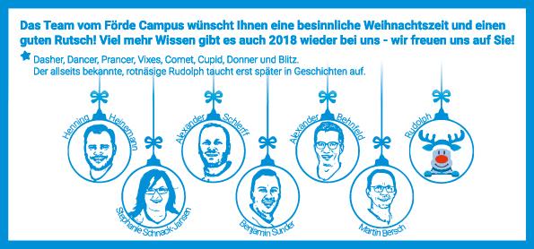 Weihnachten 2017 | Guten Rutsch 2018 | Weiterbildung Kiel | Förde Campus